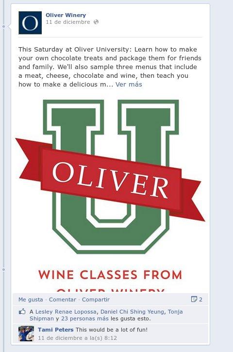 Oliver Winery - Facebook