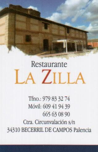 Restaurante La Zilla. Becerril de Campos. Palencia