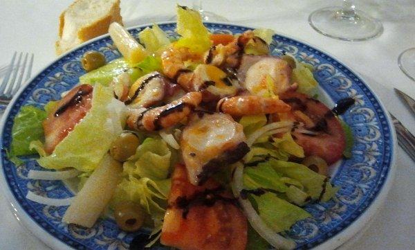 Ensalada. Restaurante La Zilla. Becerril de Campos. Palencia