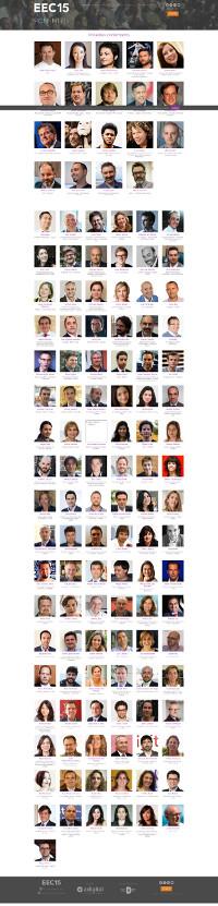 Listado de ponentes con foto tamaño carnet.